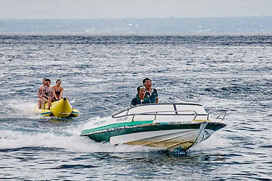 banana boat lembongan, watersports, lembongan island