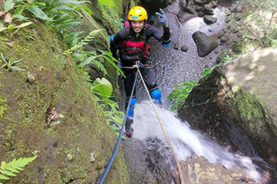 canyoning bali, penet river, bali activity