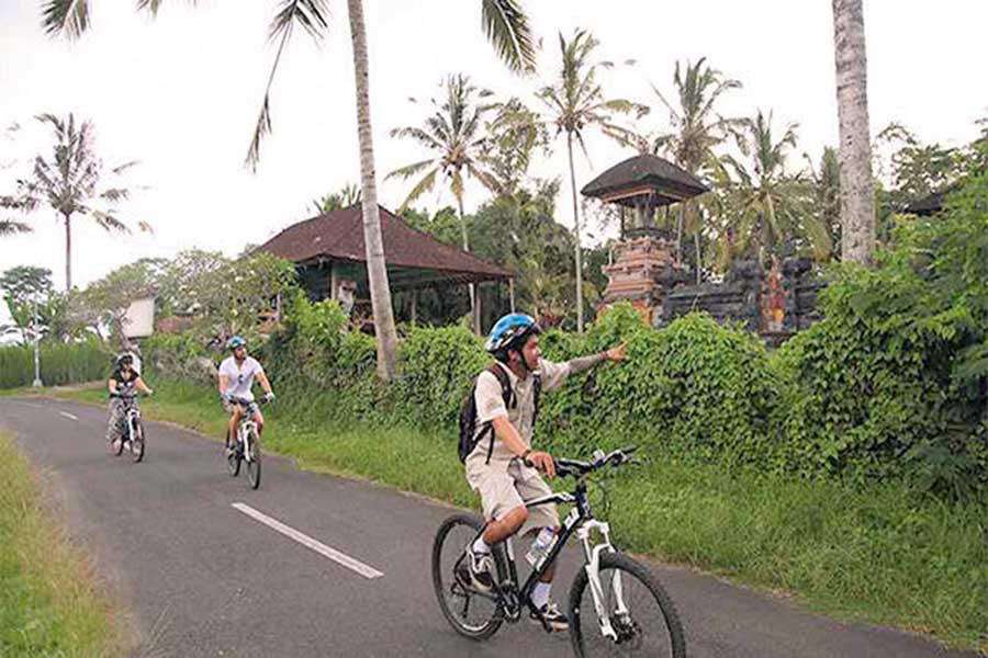 carangsari village, bali cycling tour