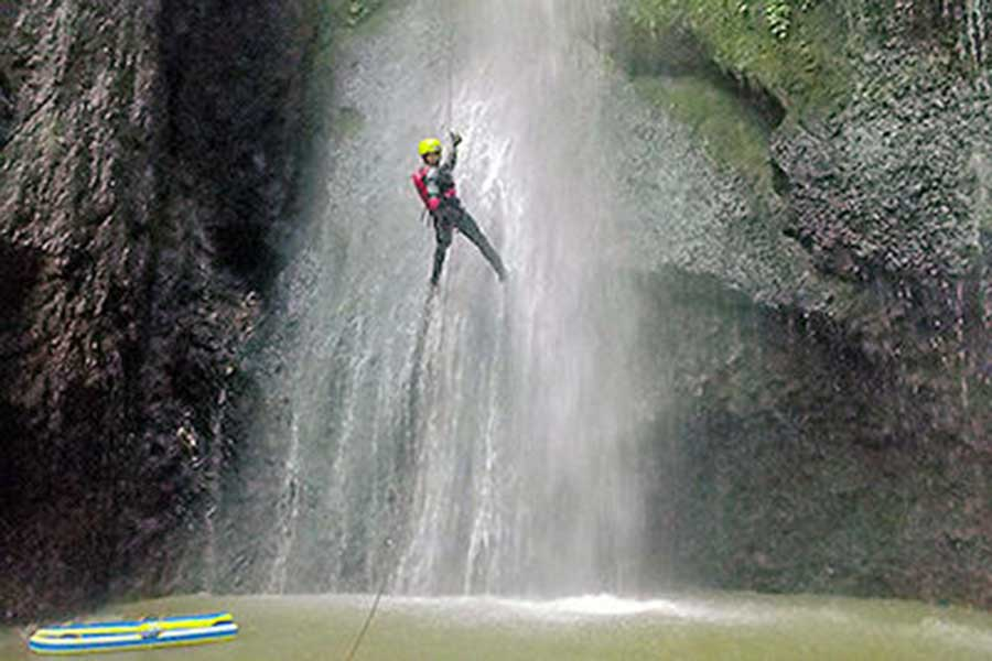 waterfall, canyoning, penet river