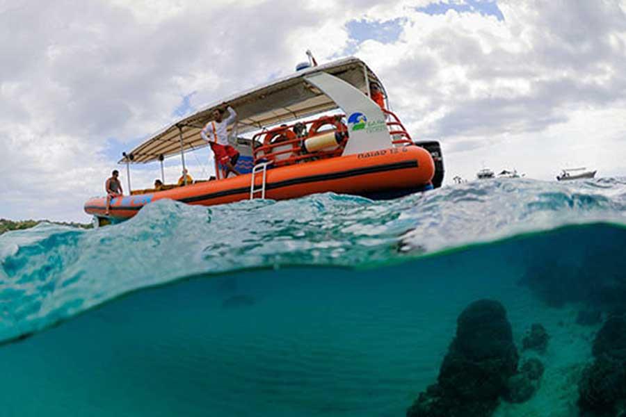 ocean raft, cruise bali, bali sea cruise