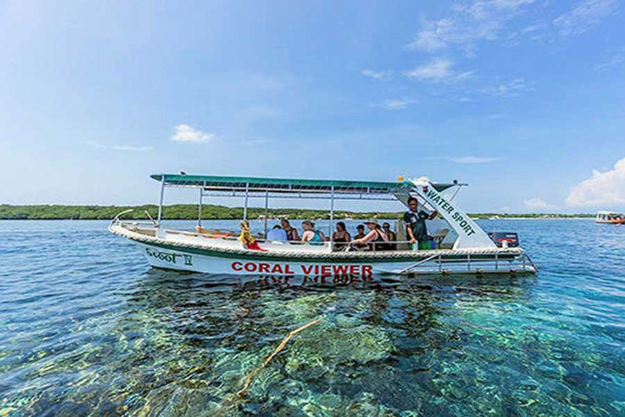glass bottom tour, lembongan island