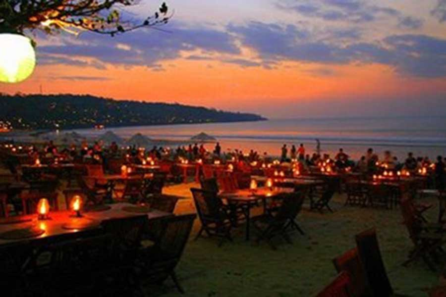 bali vacation package, bali tour, jimbaran sunset dinner