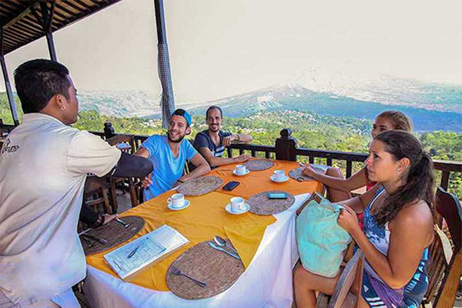 kintamani volcano, light breakfast