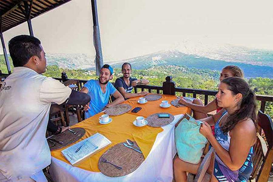 kintamani volcano, light breakfast