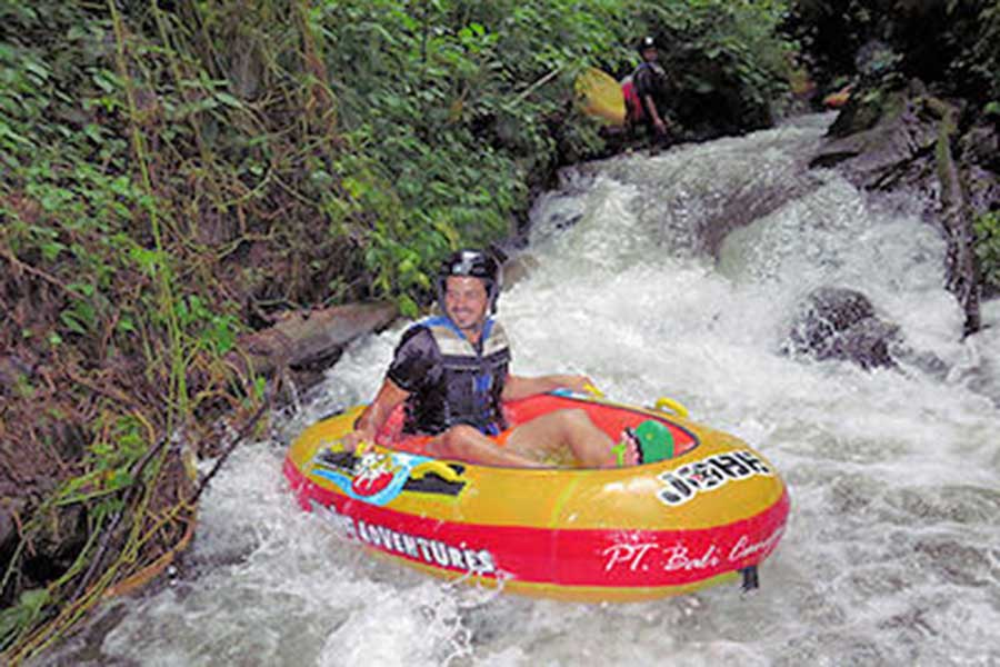quad with canyon tubing, tubing package, canyon tubing bali