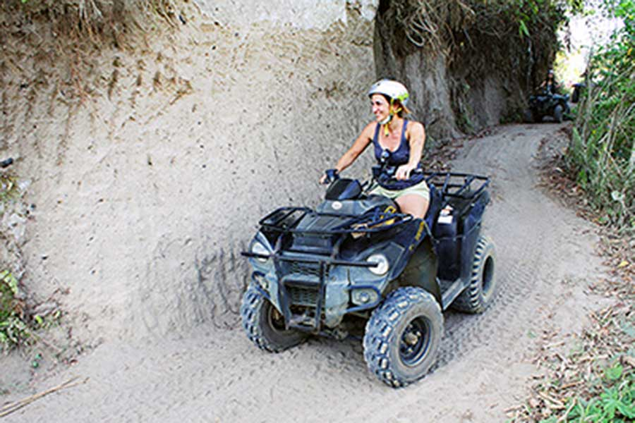 quad ubud, off-road track, bali quad discovery tour