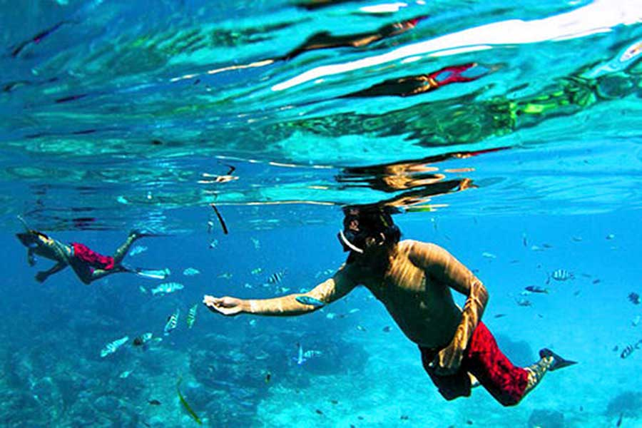 snorkeling with scoot fast cruises in lembongan