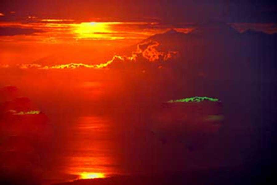 sunrise batur, volcano, bali moon bike
