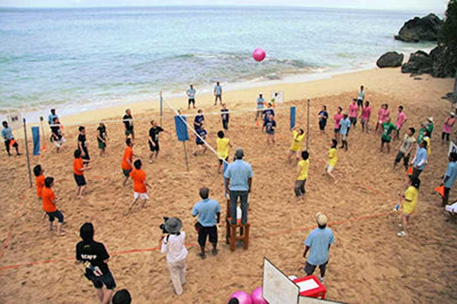 beach team building, bali team building, team work