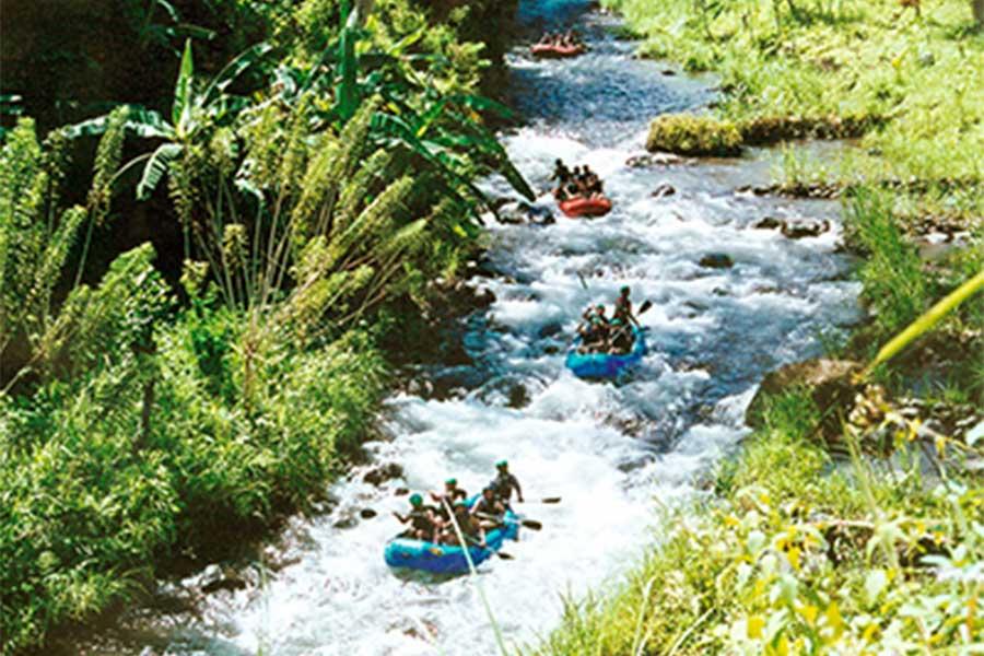 telaga waja river, longest rafting in bali