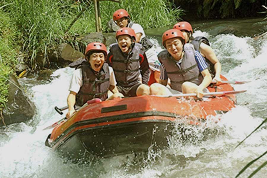 telaga waja river, white water rafting, club aqua