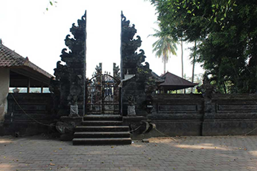 small temple, luwus village, bali moon bike