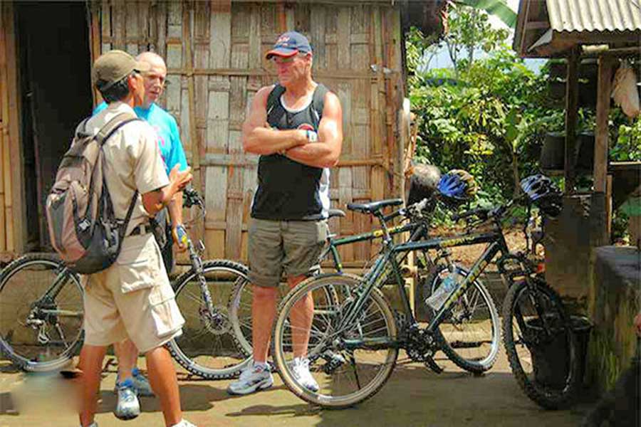 typical balinese house, bali cycling tour