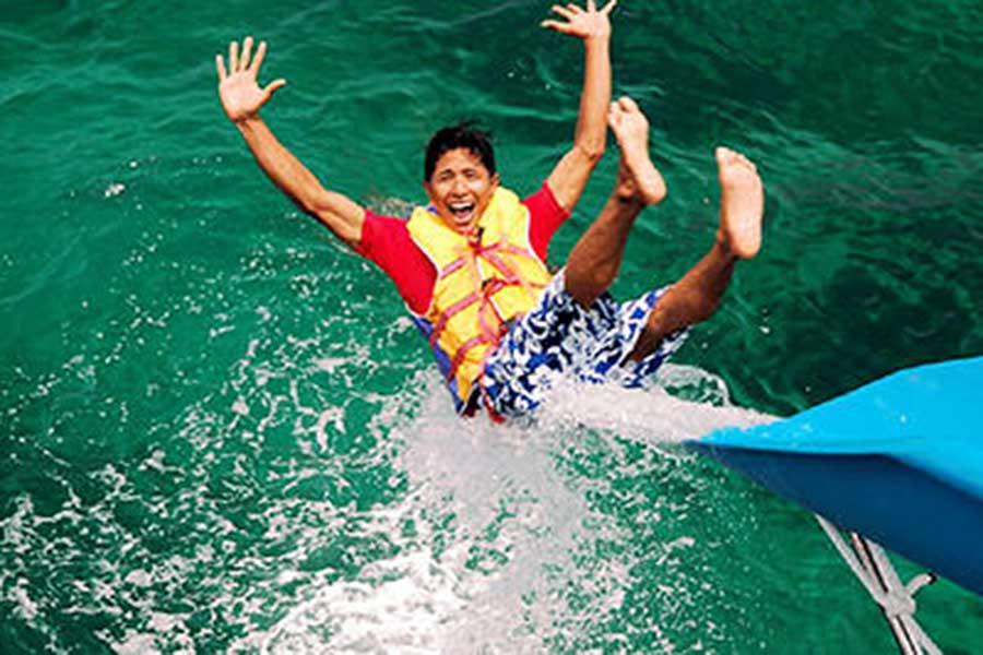 water slide bali fun ship