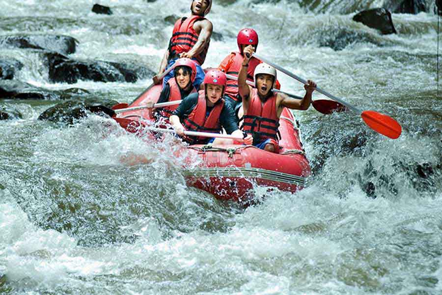 white water rafting, ayung river
