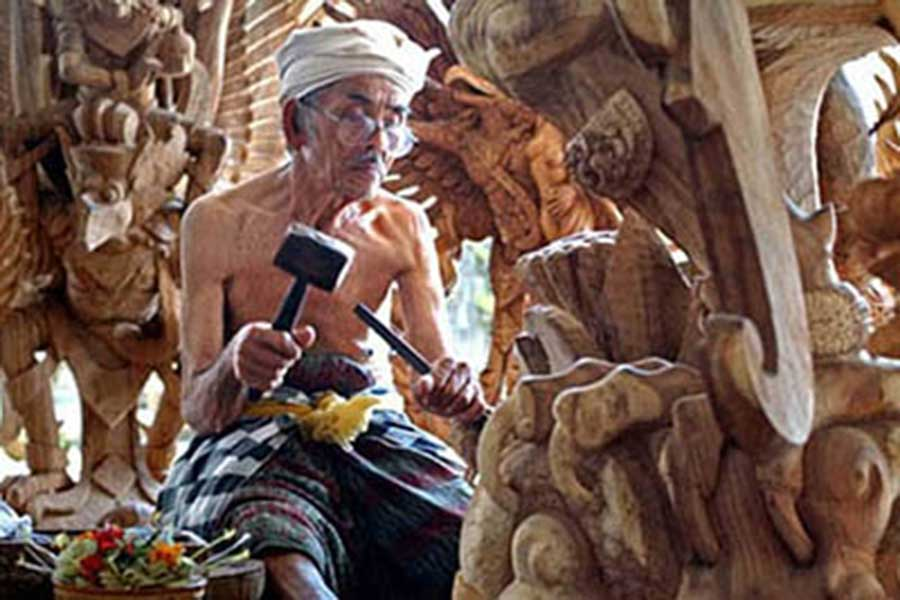 vacation package bali, bali tour package, mas wood carving bali