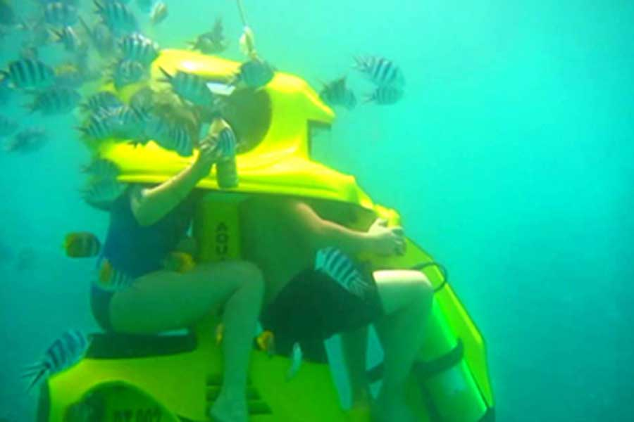 underwater scooter, water sports, aqua star bali